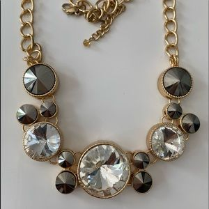 Ali &Jules Women Necklace Gold Tone crystal 19""